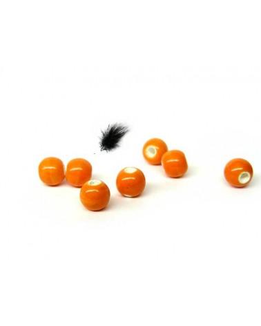 céramique 6mm orange par 15