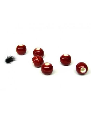 Céramique 6mm rouge par 15