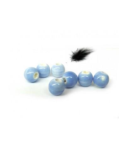 Céramique 6mm bleu lavande par 15