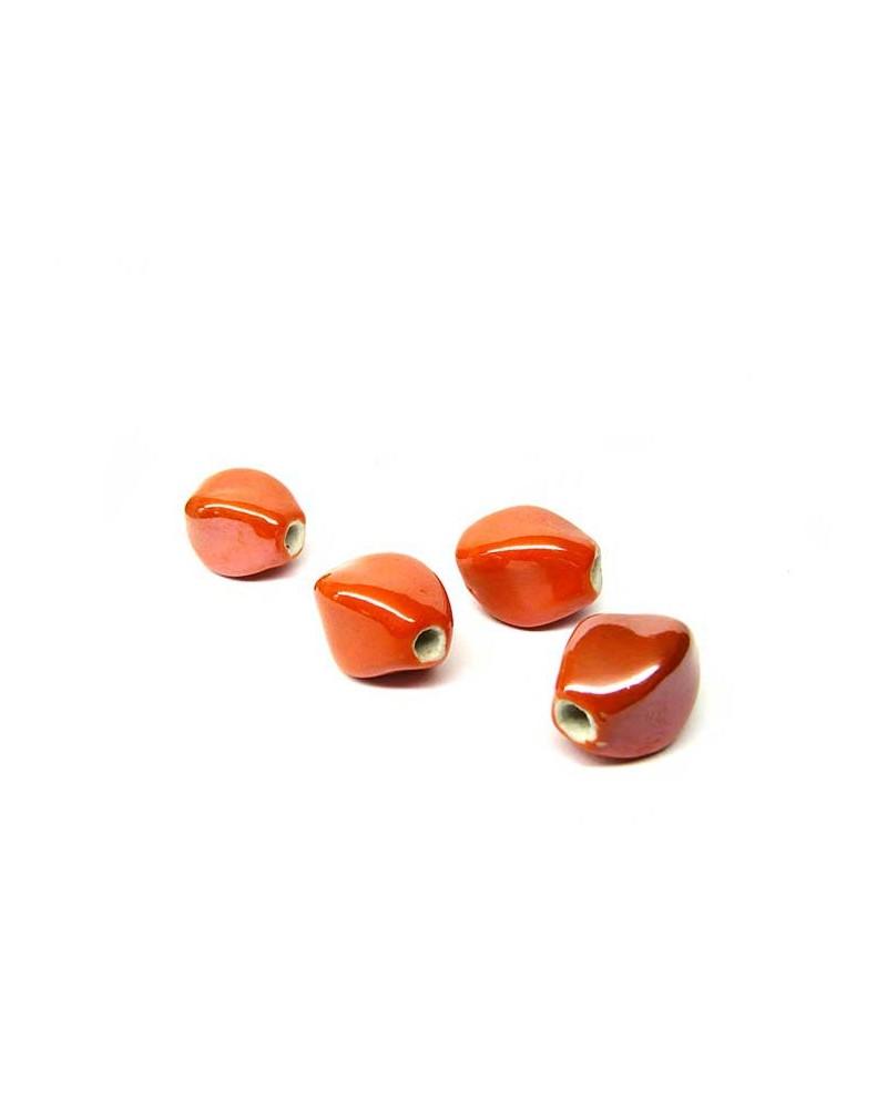 Losange en céramique 15x10mm orange AB x1