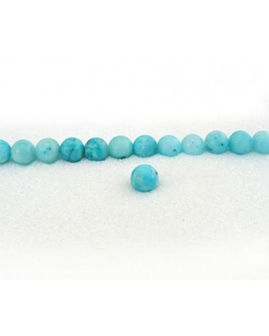 Hémimorphite 8mm lisse Bleu-turquoise par 10