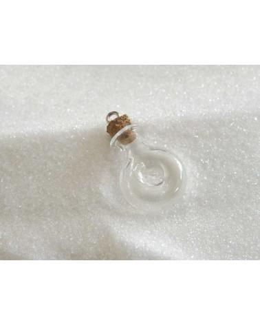 Flacon miniature en verre à suspendre GOURDE-OEIL 30x19mm