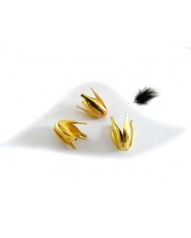 Coquille tulipe 13x8mm doré X10