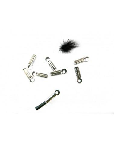 Embout Pince fil cordon 2mm acier inox x 10