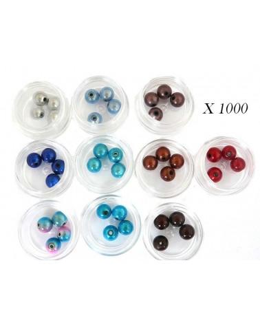 1000 perles magiques 8mm mélange OCEAN