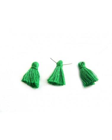 Mini Pompon satiné 15-18mm vert X1