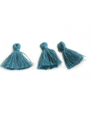 Mini Pompon satiné 15-18mm bleu anthracite X1