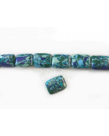 Turquoise imitation rectangle 15x20mm x1