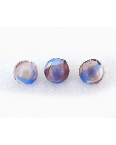 Verre soufflé bleu et lilas 12mm