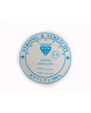 Fil élastique Crystaline 0,6mm x 10 mètres