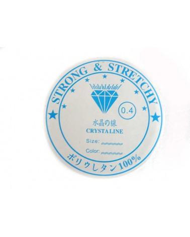 Fil élastique crystaline 0,4mm x 20 mètres