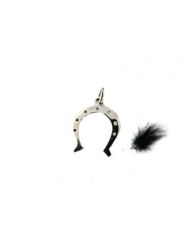 Pendentif charm fer a cheval en argent sterling 925, 17x13mm X 1