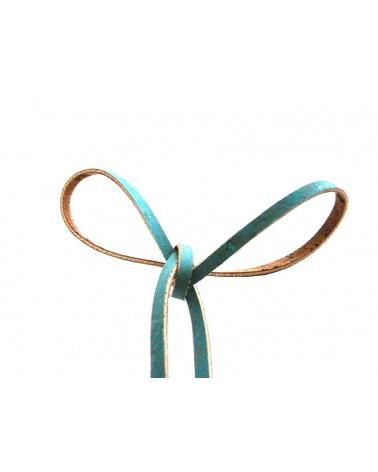 Liège cordon plat 3mm Bleu x 1mètre