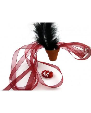 Ruban organza 10mm prune rouge X 3 M