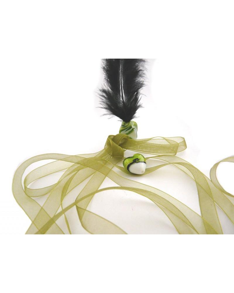 Ruban organza 10mm vert olive X 3 M