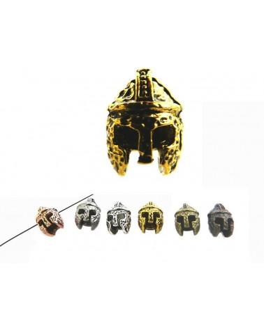 Heaume de chevalier 14X10mm doré