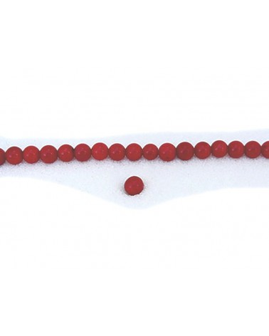 corail rouge 6mm x 15 perles