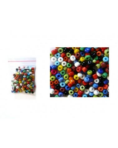 Rocaille 4mm mix couleurs vives opaques 15gr