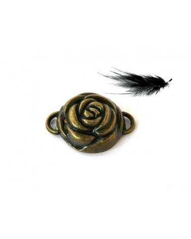 Intercalaire ROSE 23x17mm bronze X1