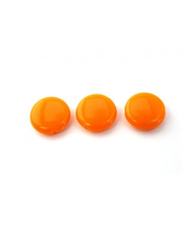 Lentille 14mm acrylique orange clair x10