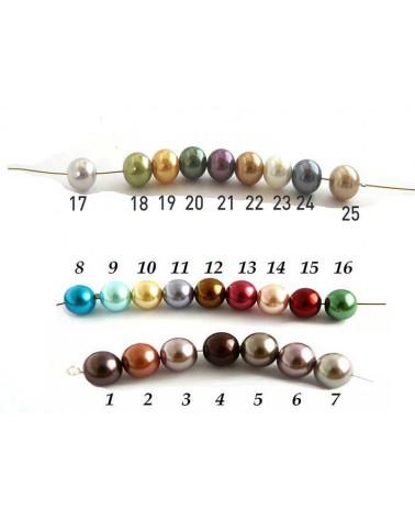 perles nacrées rondes 10mm