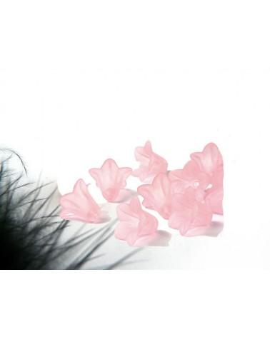 30 Blanc Givré Lucite Acrylique Lily Fleur Perles 25 Mm Top Qualité LUC13