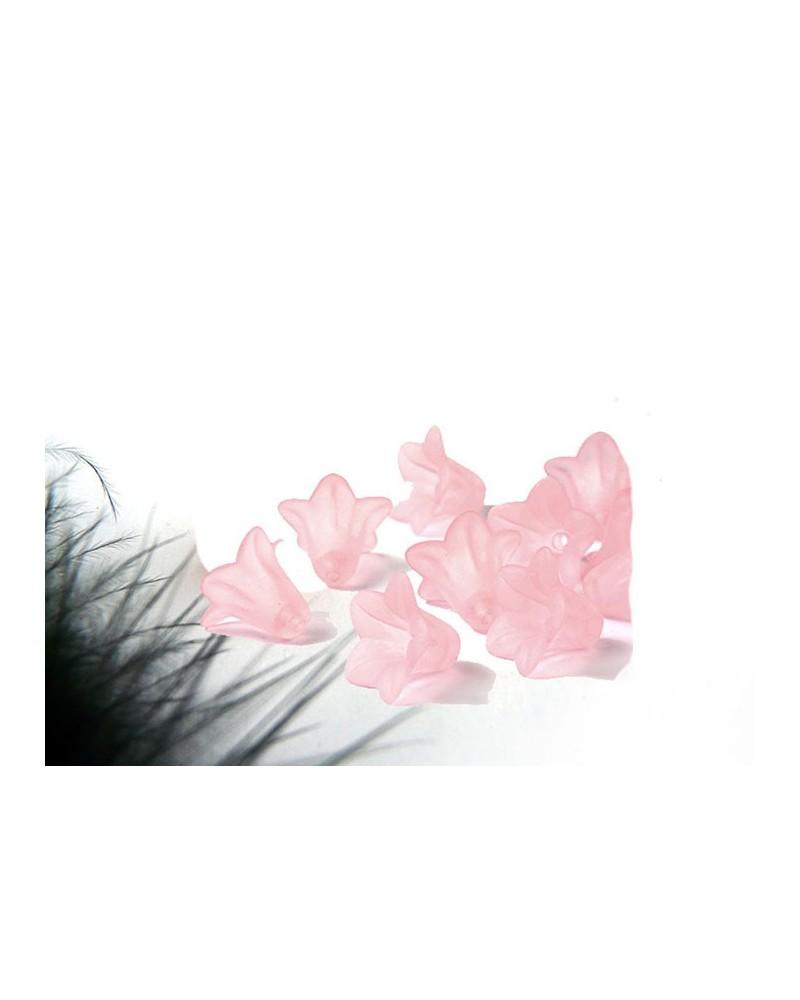Fleur acrylique 15x12mm rose