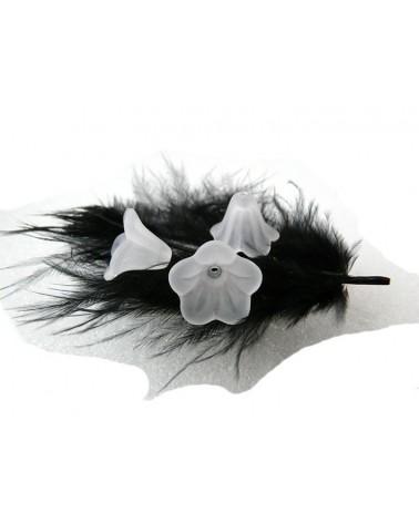 Fleur lucite13x10mm Blanc X 10