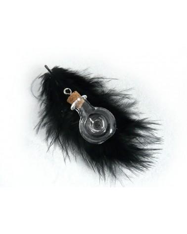 Flacon miniature en verre à  suspendre GOURDE-OEIL  30x19mm X 1