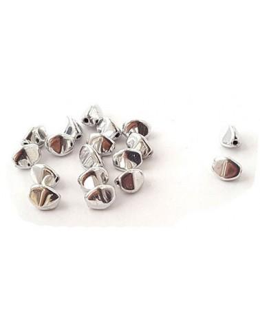 Pinch beads cz 5x3mm jet full silver x 50