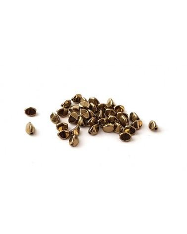 Pinch beads jet gold bronze x 50