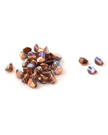 Pinch beads crystal copper rainbow x 50
