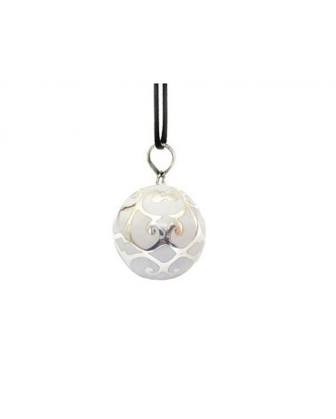 Bola de Grossesse GEMMA BLANC en Argent Sterling 925 avec son cordon réglable