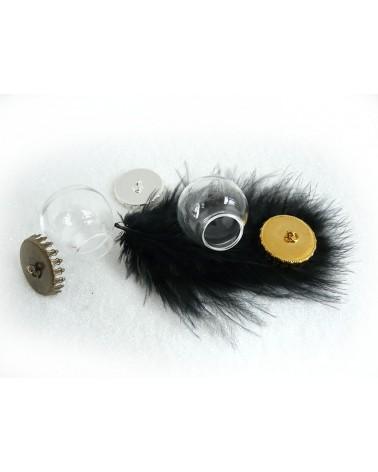 Globe 25mm en verre à  suspendre-capuchon-Doré X 1