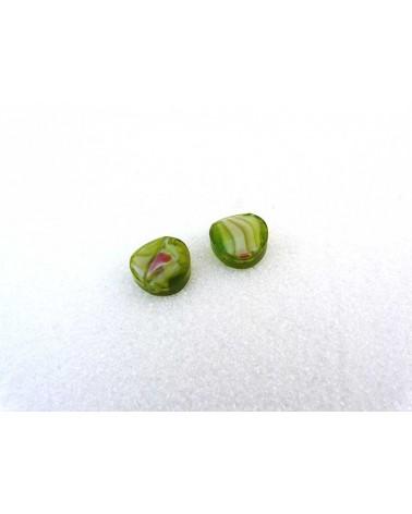 Palet millefiori 14x7mm vert anis X1