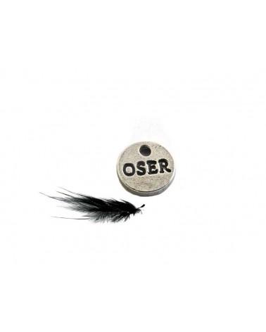 Breloque OSER 9mm argenté X1