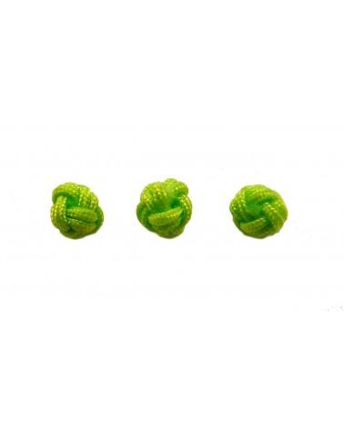 Boule tressée 6mm vert X1