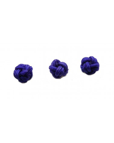Boule tressée 6mm bleu X1