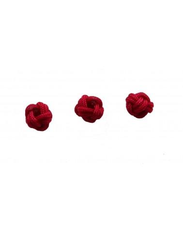 Boule tressée 6mm rouge X1