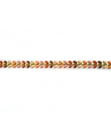 Chaîne épi émaillée multicolore nude B doré X 0.20m