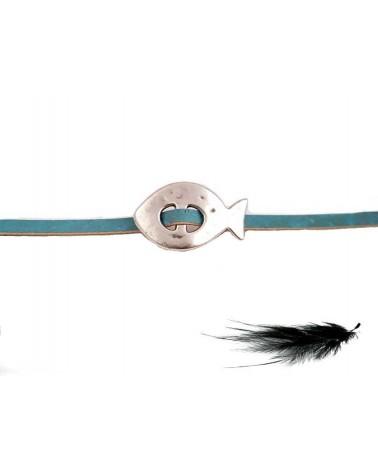 Intercalaire poisson argenté zamac