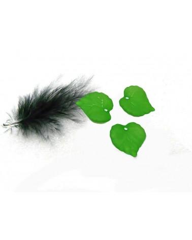 Feuille acrylique 16x15mm givré vert X 5