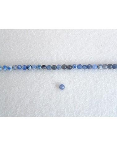 Agate 4mm bleu bleuet mix facettée par 20