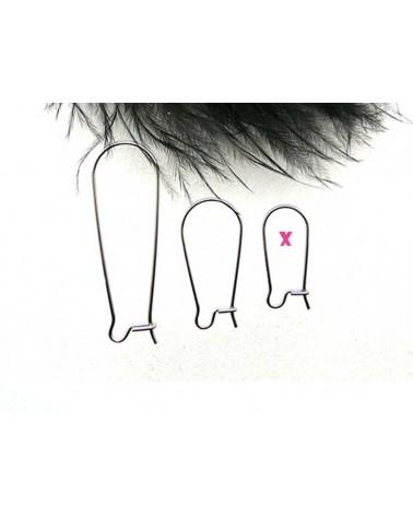 Boucles d'oreilles petites dormeuses acier inox X 2