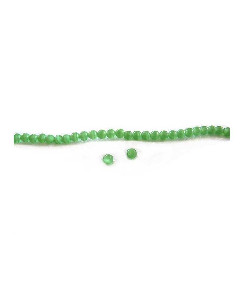 Oeil de chat 4mm vert X 20