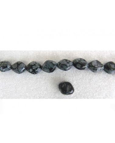 Obsidienne mouchetée 10x4mm x5
