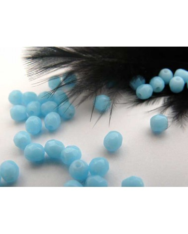 Facettes 4mm turquoise opaq light x 50