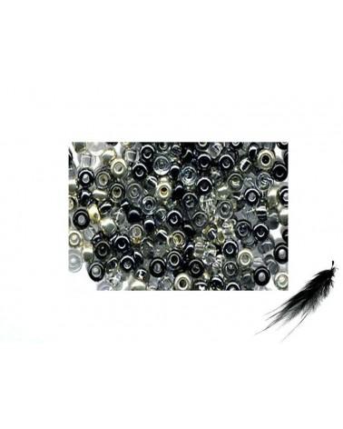 Rocaille 2,3mm mélange NOIR et cie x 10g
