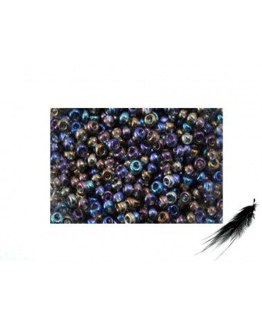 Rocaille 2,3mm  NUIT IRISEES x 10g