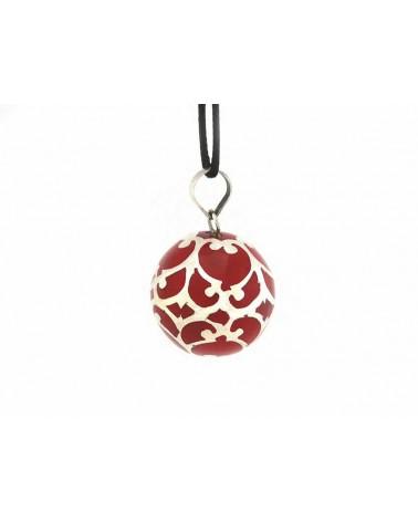 Bola de Grossesse ALUDRA rouge 22mm - Argent 925 - cordon réglable